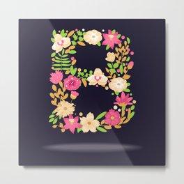 Floral letter B Metal Print