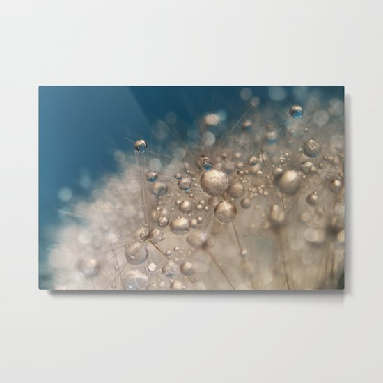 Blowball Blue Metal Print