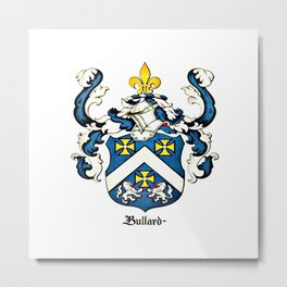 Family Crest - Bullard - Coat of Arms Metal Print