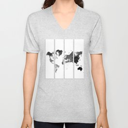 World map in pieces Unisex V-Neck