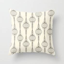 Art Deco No. 50 . Christmas decorations . Throw Pillow
