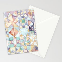 watercolour quilt Stationery Cards