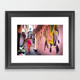 Carrying Water Framed Art Print
