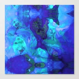 Violet Blue - Abstract Art By Sharon Cummings Canvas Print