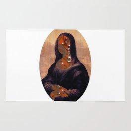 Mona Lisa V1c Digitalface Oval Collage Rug
