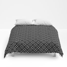 Nordic Edelweiss in Black and White Comforters