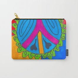 Peace Sign Flower Carry-All Pouch