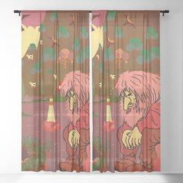 Norwegian giant  Troll 5 Sheer Curtain