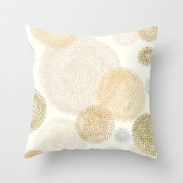 retro spots  Throw Pillow