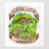 In A Hole In The Ground Art Print
