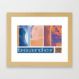 Surf skate snow boarder art Framed Art Print