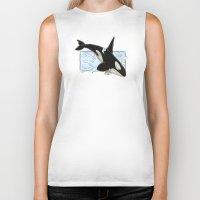 killer whale Biker Tanks featuring Orca - Killer Whale? by LyndaParker