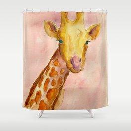 The Giraffe Shower Curtain