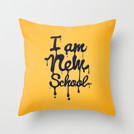 I am new school! Throw Pillow