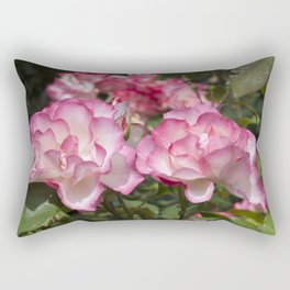Raspberry Ice Rose Rectangular Pillow