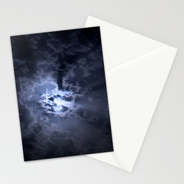 Full moon at night Stationery Cards