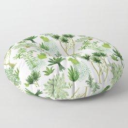 Green jungle pattern Floor Pillow