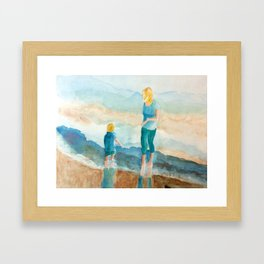 Joy On The Beach Framed Art Print