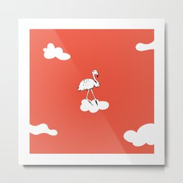 Flying Flamingo by McKenna Sanderson Metal Print