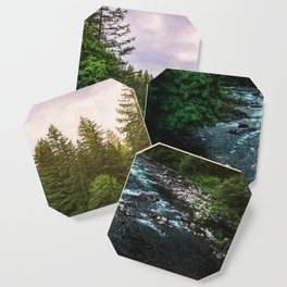PNW River Run II - Pacific Northwest Nature Photography Coaster