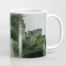 Warwick Castle Bathed in Green Light Coffee Mug