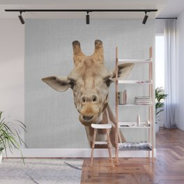 Giraffe 2 - Colorful Wall Mural