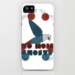 No More Ghosts - Mauritius Blue Pigeon iPhone Case