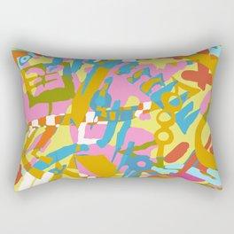 Colourful Daubs Rectangular Pillow