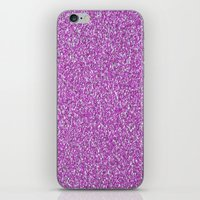 glitter iPhone & iPod Skins featuring Glitter by mailboxdisco