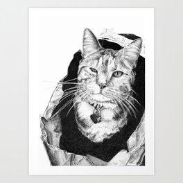 Cat in the Bag Art Print