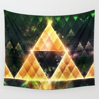 triforce Wall Tapestries featuring Triforce by Spires