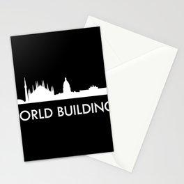 skyline world Stationery Cards