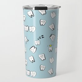 Teeth pattern Travel Mug