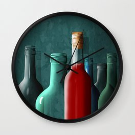 The last full bottle Wall Clock