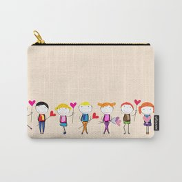 Children with hearts Carry-All Pouch