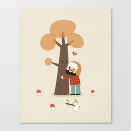 Le gentil bucheron Canvas Print