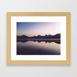 Sunrise over Glacier Framed Art Print