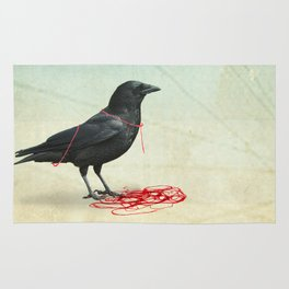 freedom  _ black crow Rug