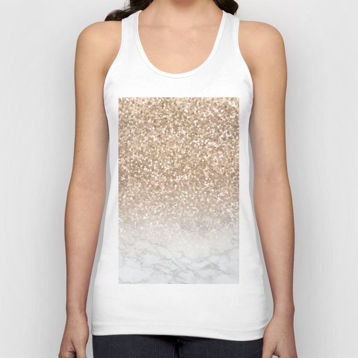 827ef8ac Sparkle - Gold Glitter and Marble Unisex Tank Top by naturemagick ...