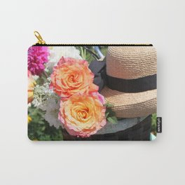 Roses, Straw Hat and Bicycle Carry-All Pouch
