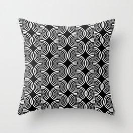 pattern black and white art Throw Pillow