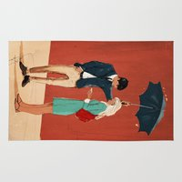 broadway Area & Throw Rugs featuring Broadway Bus Stop by Stephan Parylak