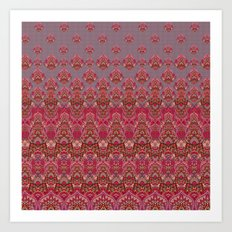 Farah Blooms Red Art Print
