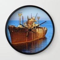 wreck it ralph Wall Clocks featuring Wreck by Roxana Lazăr