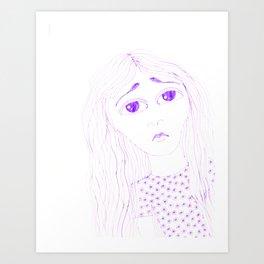 purple sadness2 Art Print