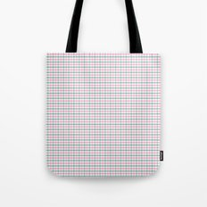 Gingham pink and forest green Tote Bag