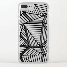 Ab Lines 2 Black and White Clear iPhone Case