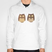owls Hoodies featuring Owls by sheena hisiro
