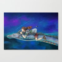 spirited away Canvas Prints featuring Spirited Away by Gabrielle Ragusi