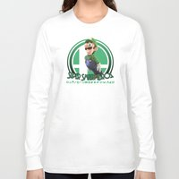 super smash bros Long Sleeve T-shirts featuring Luigi - Super Smash Bros. by Donkey Inferno